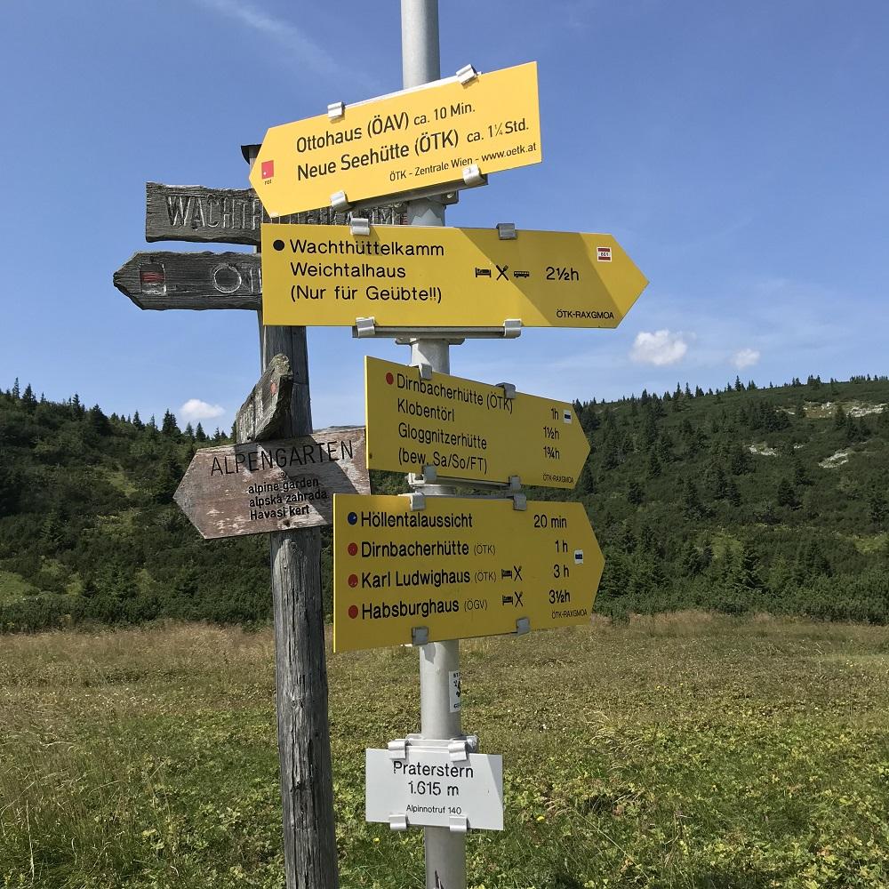 Praterstern auf der Rax (1.615 m)
