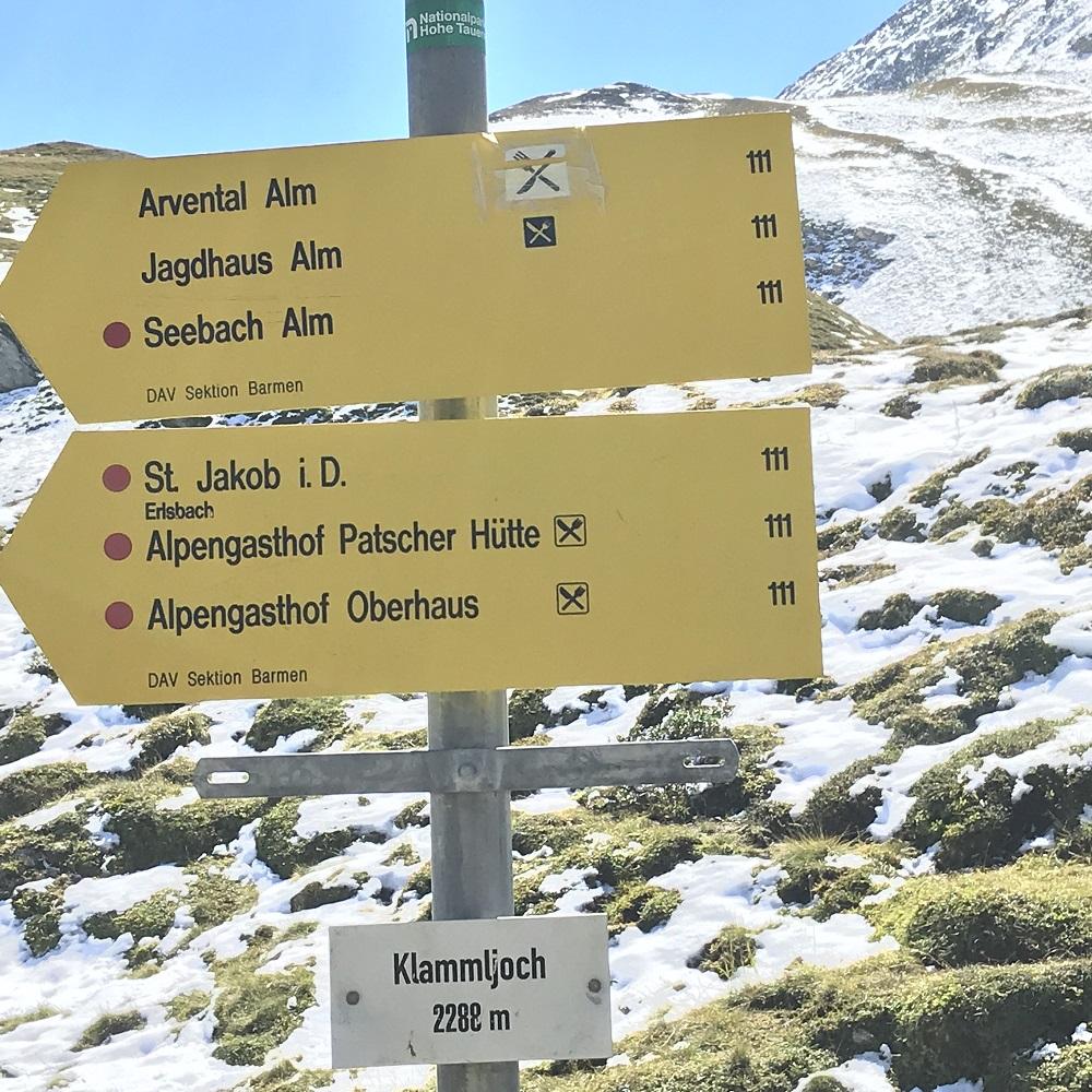 Grenzübergang am Klammljoch (2.288 m)