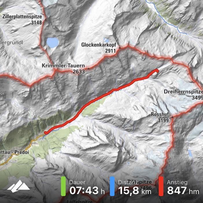 Link zu Tracking Bergfex