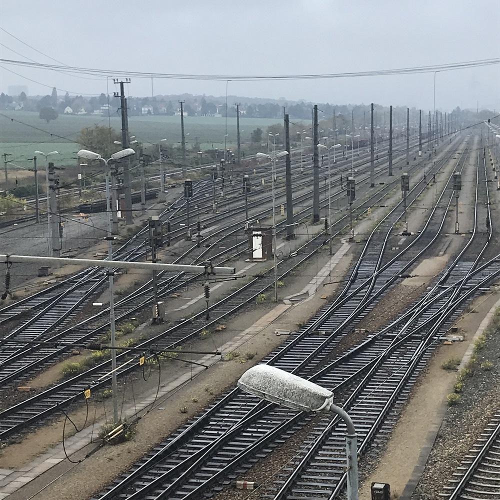 Gleise zum Zentralverschiebebahnhof Wien-Kledering