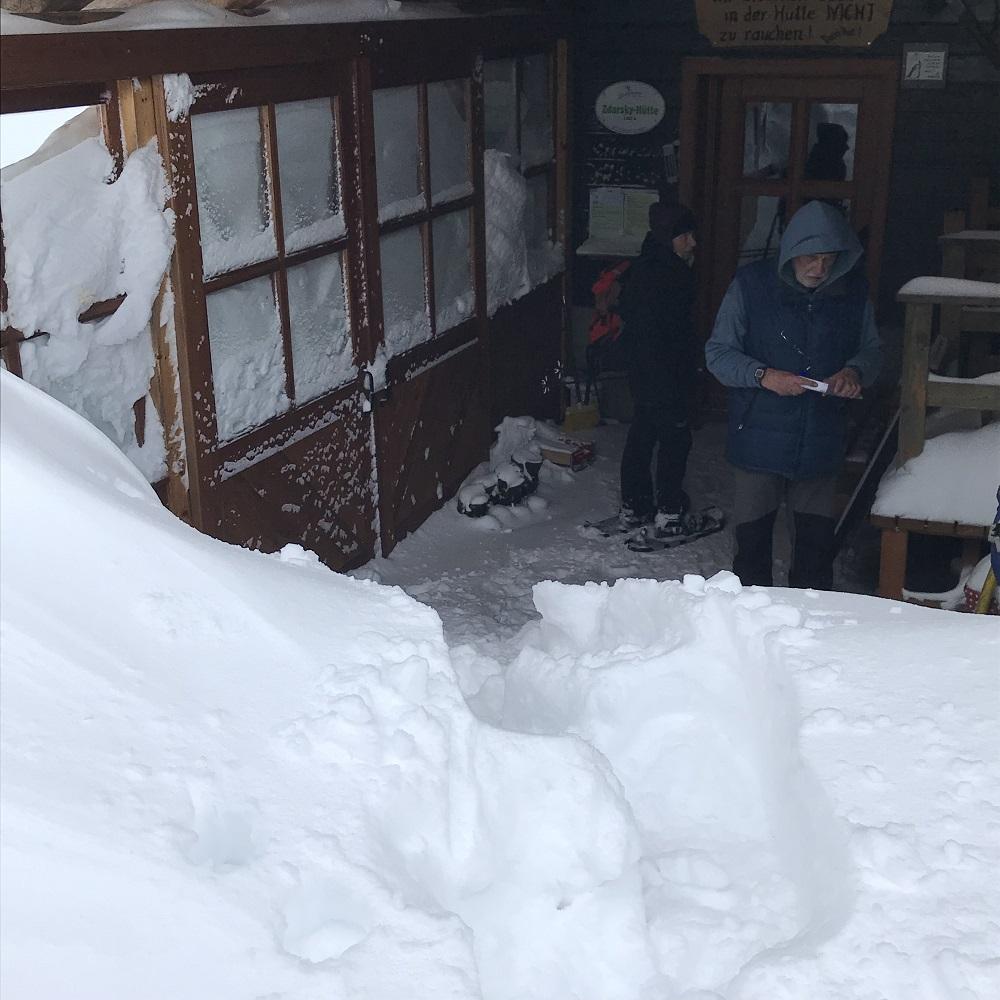 offener Unterstandsraum Zdarskyhütte