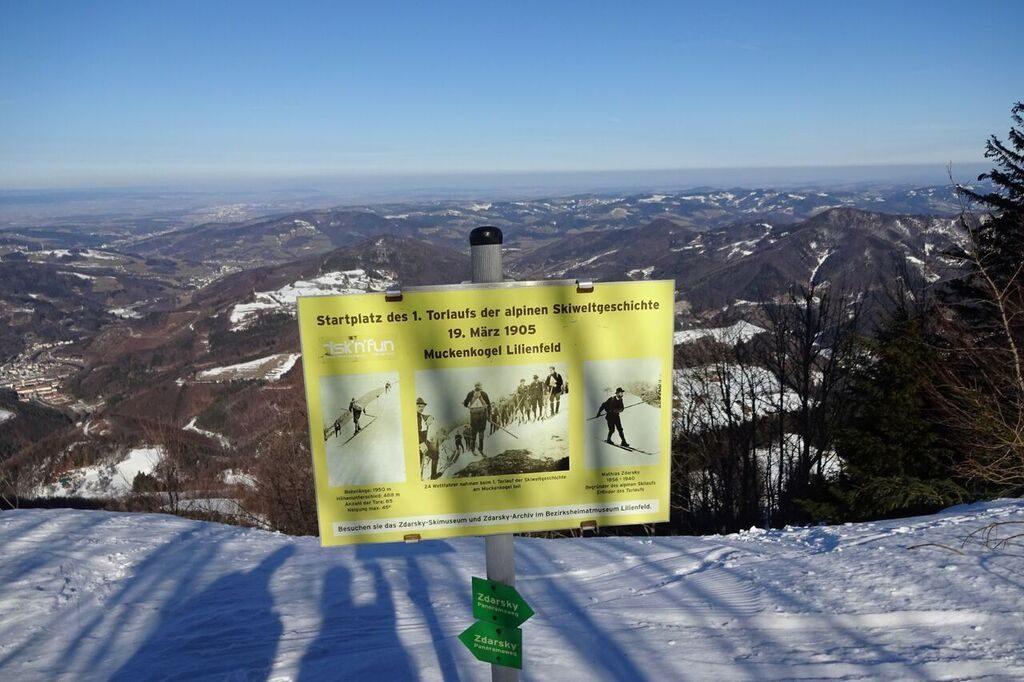 Startplatz des 1. Riesentorlaufs der Alpingeschichte.