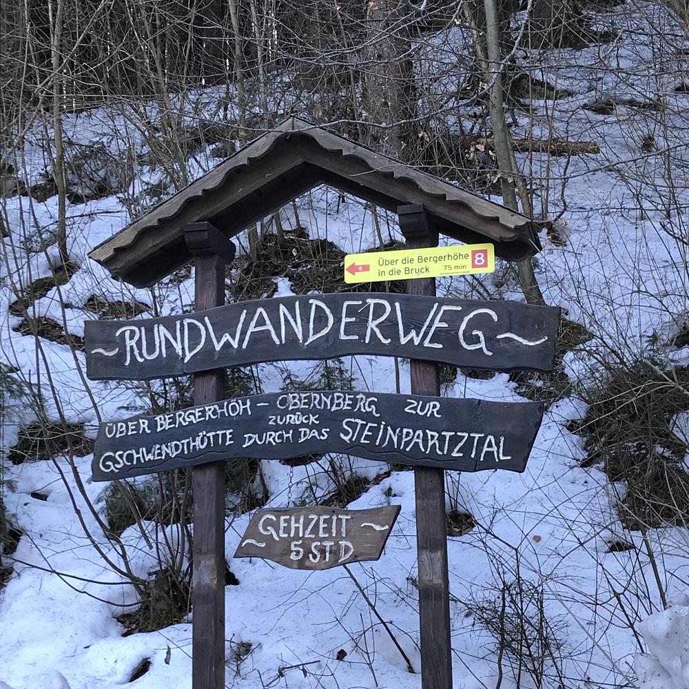 Wegweiser Rundwanderweg