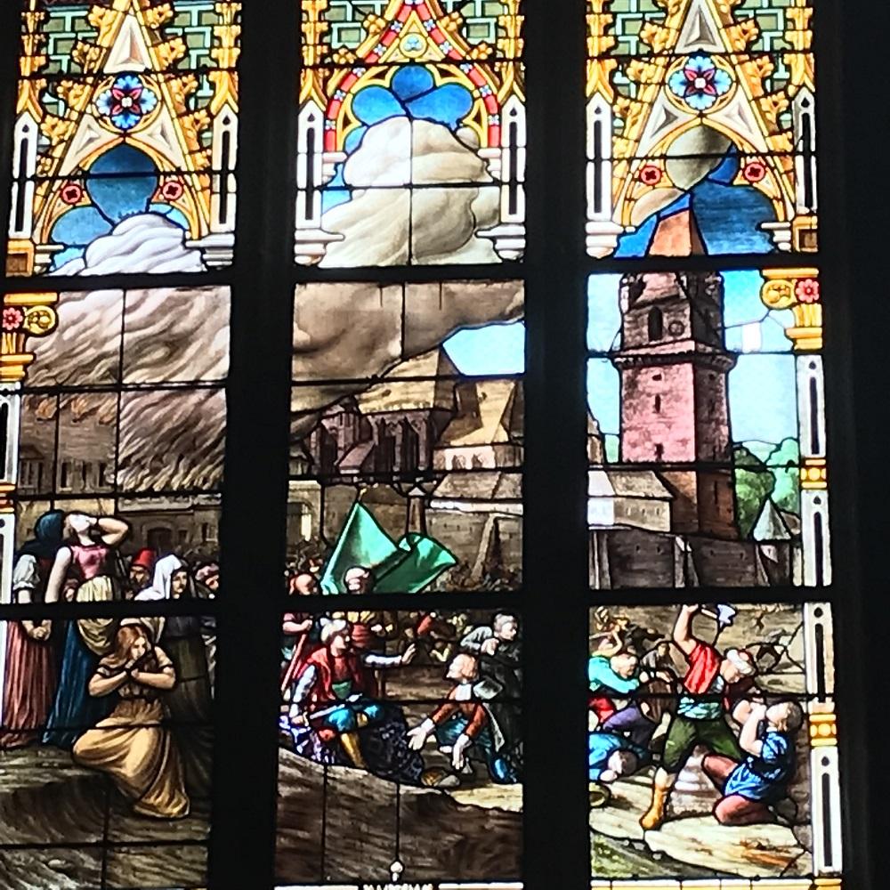 Kirchenfenster der Wehrkirche