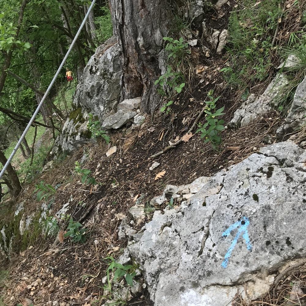 Heikle Stellen am Wandfuß-Steig