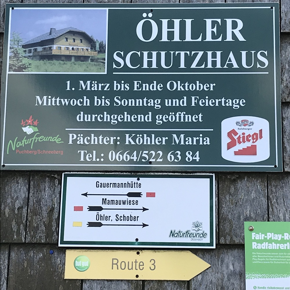 Öhler Schutzhaus (1.027 m)