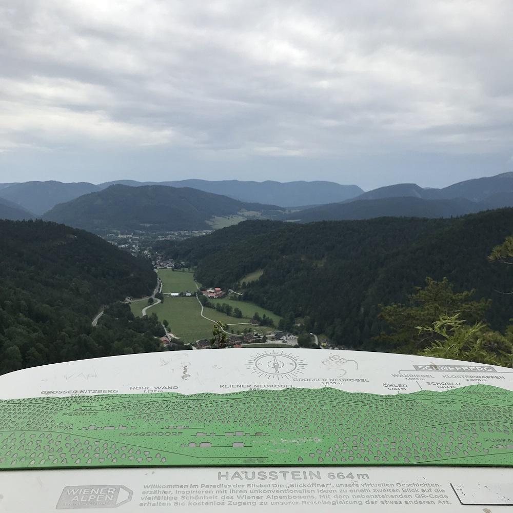 Blick vom Hausstein Richtung Pernitz