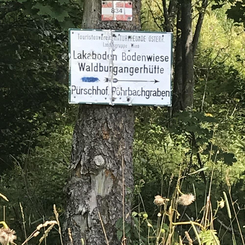 Markierung Waldburgangerhütte