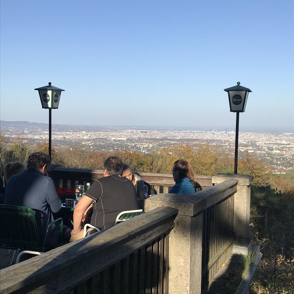 Blick vom Franz Ferdinand Schutzhaus auf Wien