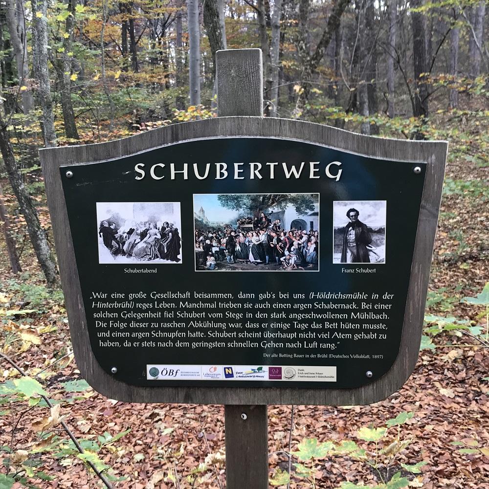 Schautafel am Schubertweg