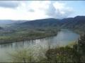 Blick donauaufwärts auf die Wachau mit Rossatz und Weißenkirchen
