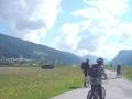 Vor Radstadt sieht man das erstemal den Dachstein - leider teilweise in Wolken
