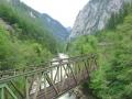 Zurück im Gesäuse. Im Bild Bahnbrücke über die Enns