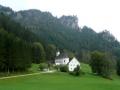 Kirche mit Bergsteigerfriedhof Johnsbach