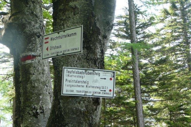 Klettersteig Rax : Rax teufelsbadstube und wachthüttelkamm