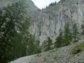 Geröllfeld am Beginn des Klettersteigs