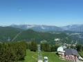 Blick zu Rax Schneeberg