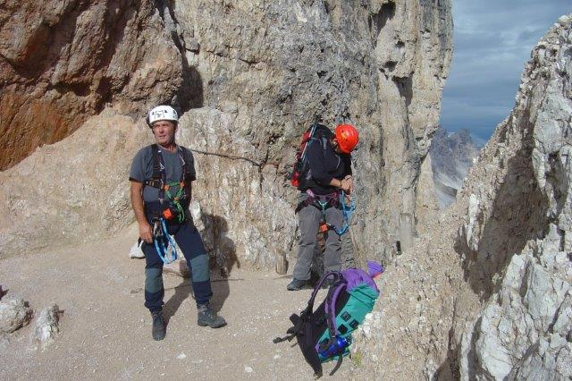 Klettersteig Paternkofel : Sexten klettersteig da luca innerkofler