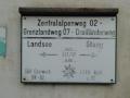 Markierung Weitwanderweg in Blumau an der Grenze zum Burgenland