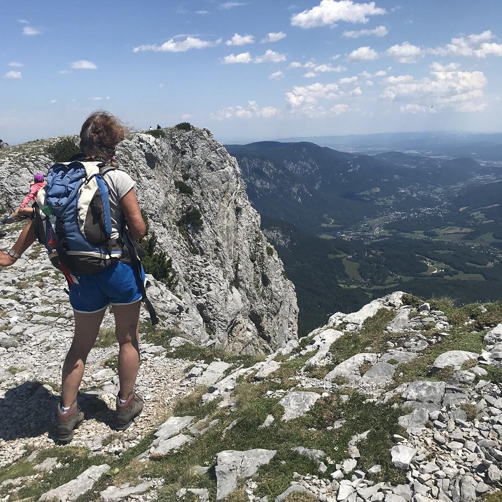 Blick nach Reichenau/Rax